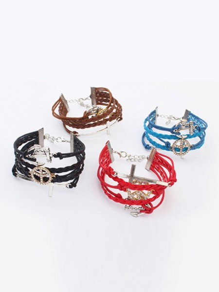 Occident Retro Anchor Cruciate woven Hot Sale Armband